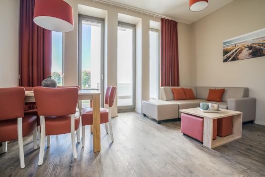 Westende: Vakantieappartement voor 5 personen met dubbelbed en stapelbed (Standard)