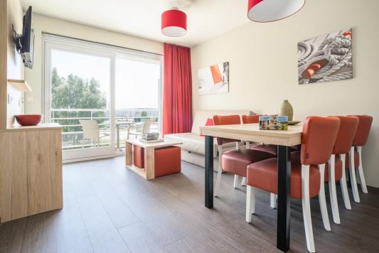 Zeebrugge: Vakantieappartement voor 6 personen (Basic - 30m²)